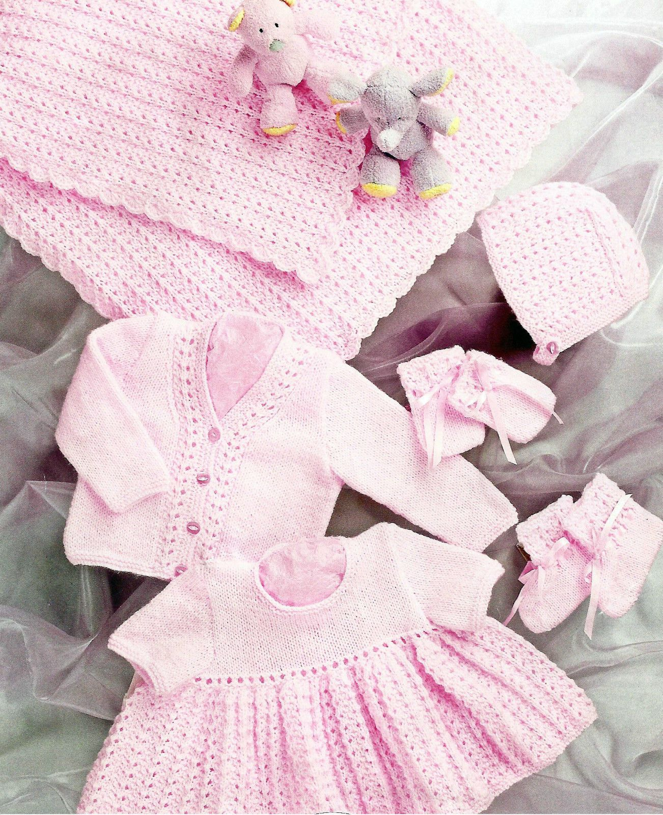 Baby or doll vintage knitting pattern 6 sizes premature 12 22 1 of 1 premature baby or doll knitting pattern 12 to 20 inch 519 bankloansurffo Image collections
