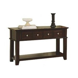 264 36 Cappuccino Entryway Foyer Table With Drawers