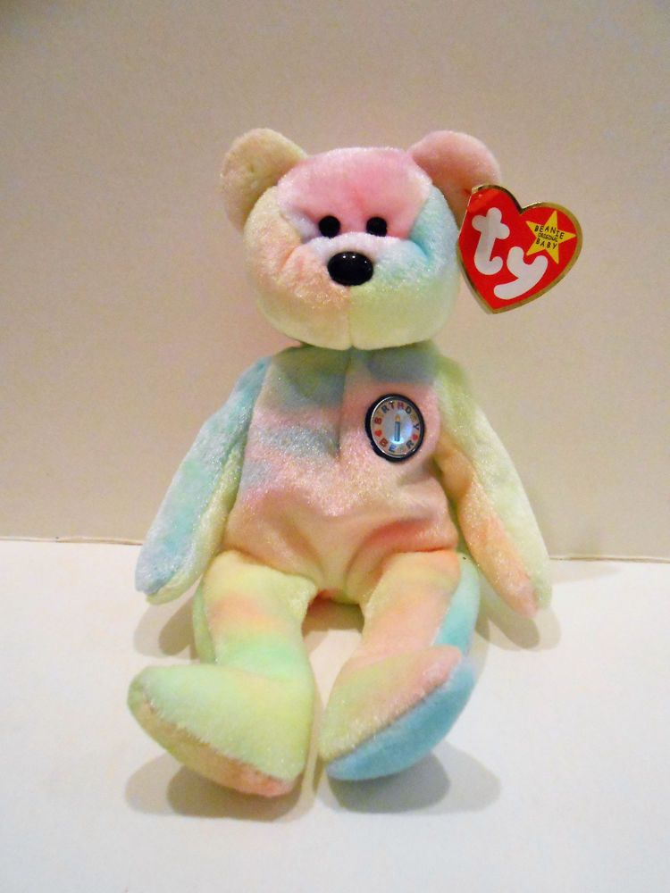 TY Beanie Original Baby Tye-Dye Birthday