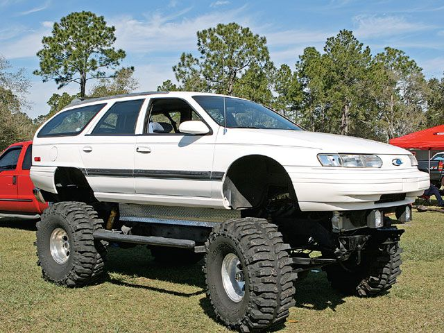 Ford Taurus L 30 Wagon Lifted Cars Monster Car Lifted Chevy Trucks