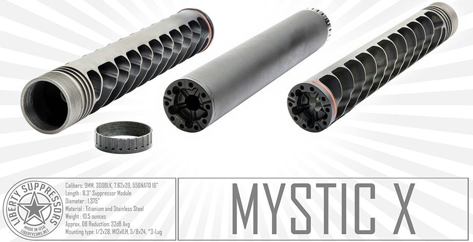 Liberty modular silencer, it can handle anything from