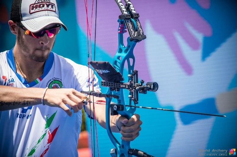 Check out the proper form for pulling back a compound bow #archery