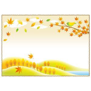 フリーイラスト ベクター画像 Ai 風景 自然 植物 葉っぱ 落葉