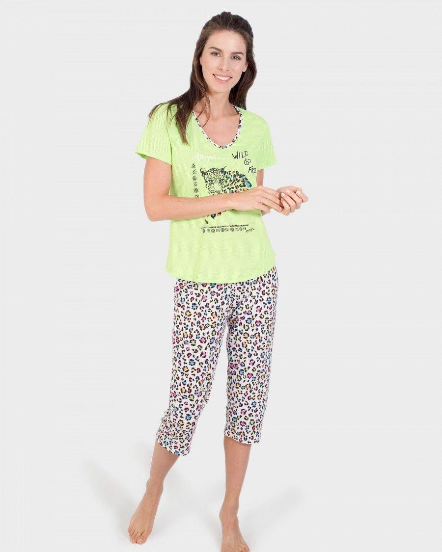 e57eef1422 PIJAMA MUJER LEOPARDO PIRATA - CENTRO TEXTIL MASSANA S.L. Pijamas Mujer