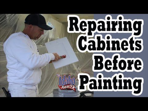 Using Bondo Glazing Putty For Nicks & Dings in Cabinets & Trim ...