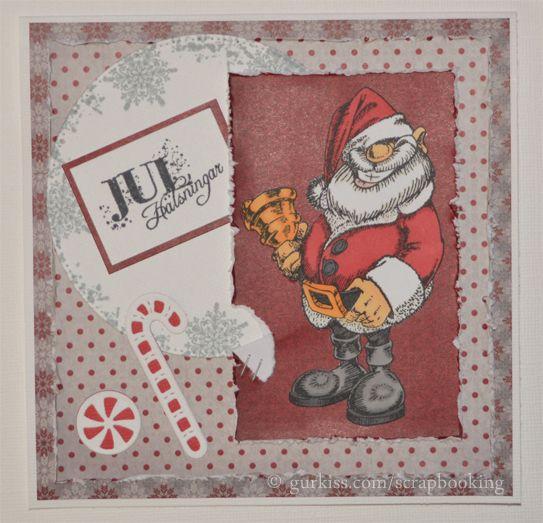 Christmas card / Julkort Scrapbooking - Jul - Christmas Pinterest