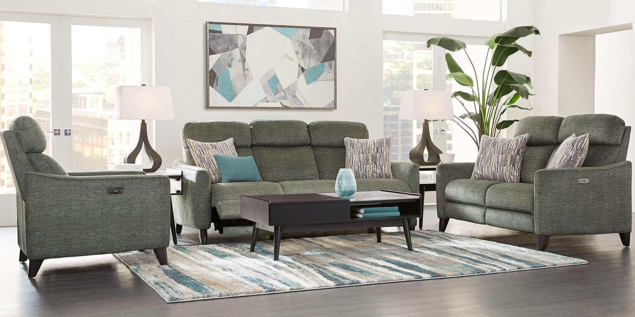 Pierceton Gray 3 Pc Dual Power Reclining Living Room In 2021 Reclining Sofa Living Room Gray Living Room Design Living Room Sofa Design