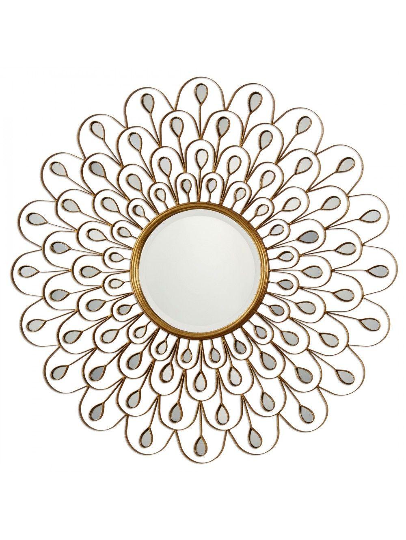 Julia sunburst mirror gold home art u plants pinterest