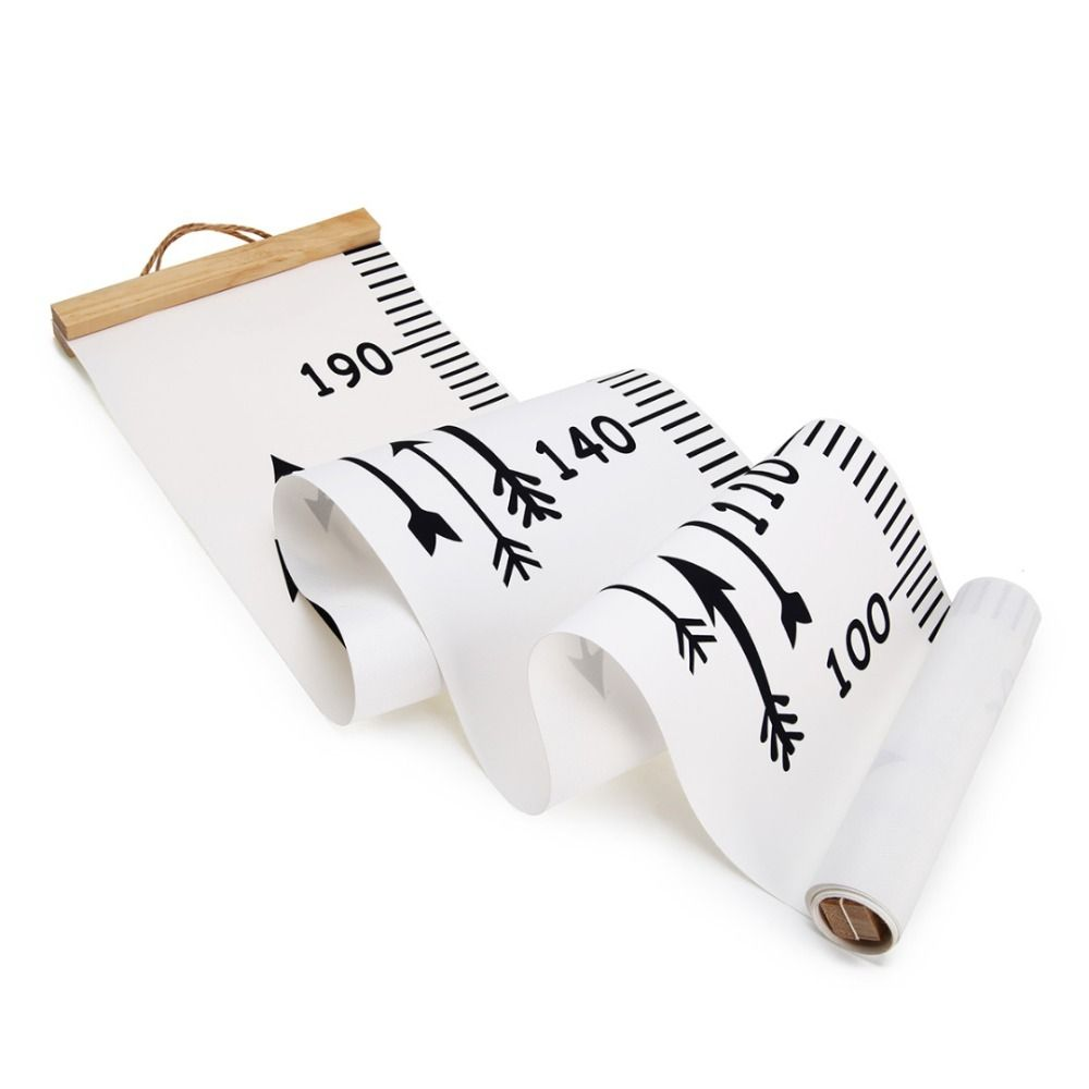 Nordic Wooden Baby Growth Chart Kids Room Wall Hanging Height Measure Ruler US