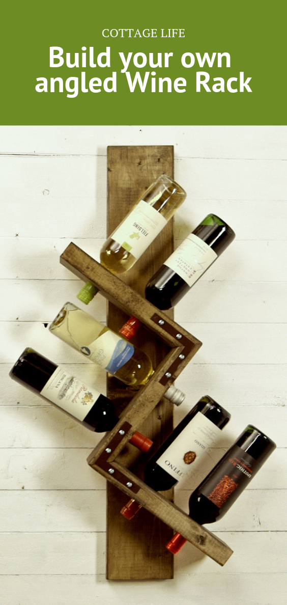 Build Your Own Angled Wine Rack Cottage Life Wood Wine Rack Diy Wine Rack Plans Wine Rack