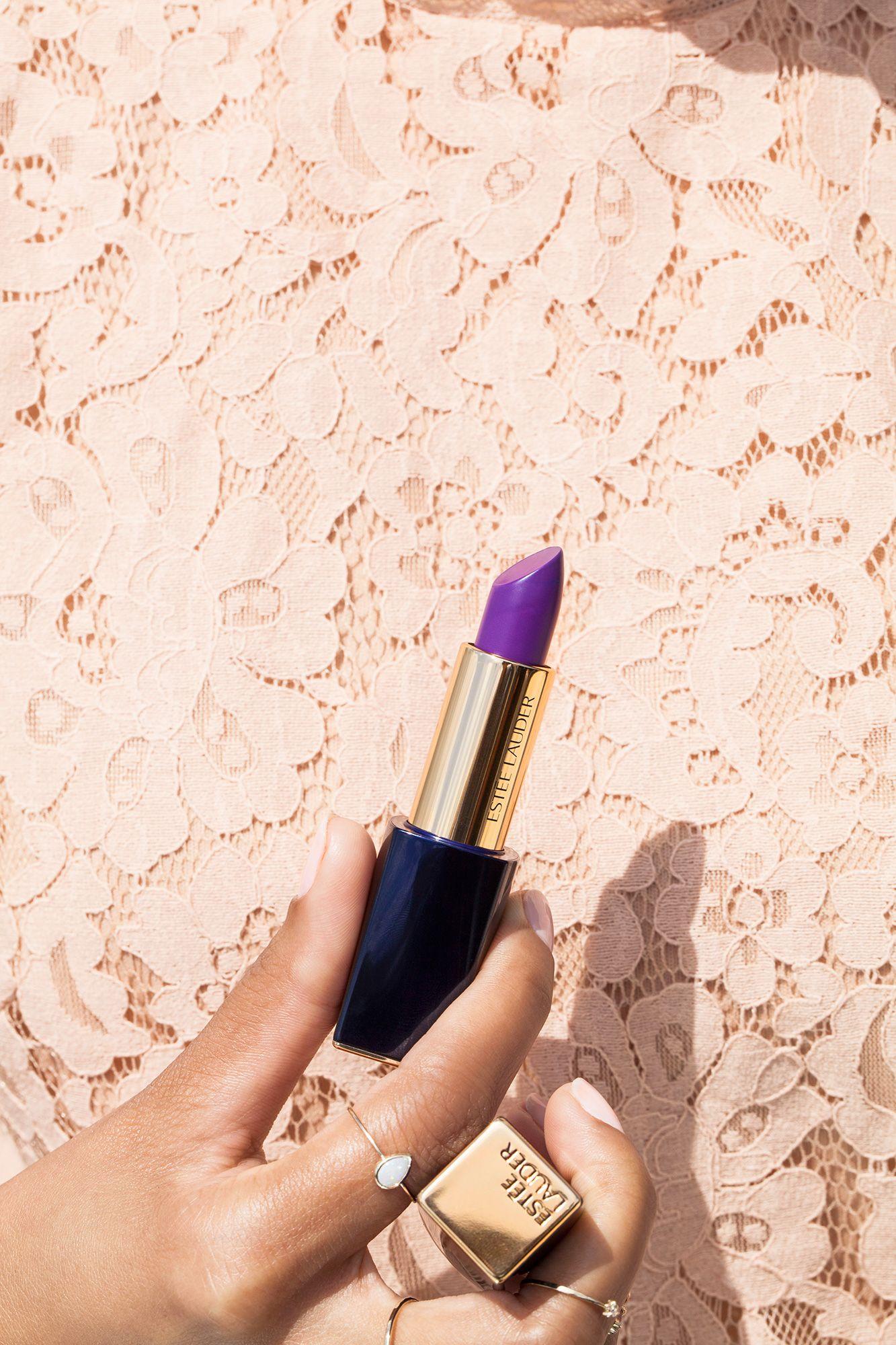 「Estée Lauder Pure Color Envy Matte Lipstick in Shameless Violet」的圖片搜尋結果