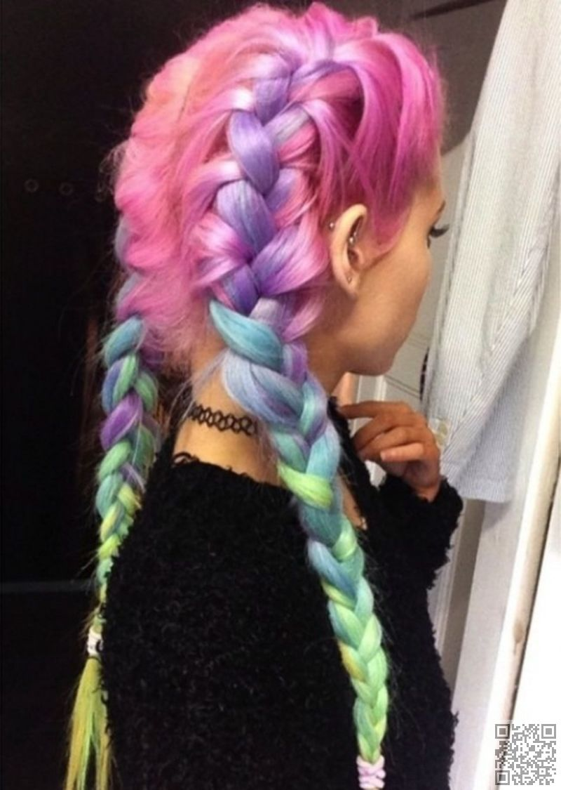 Rainbow braids that will make you want to dye your hair today