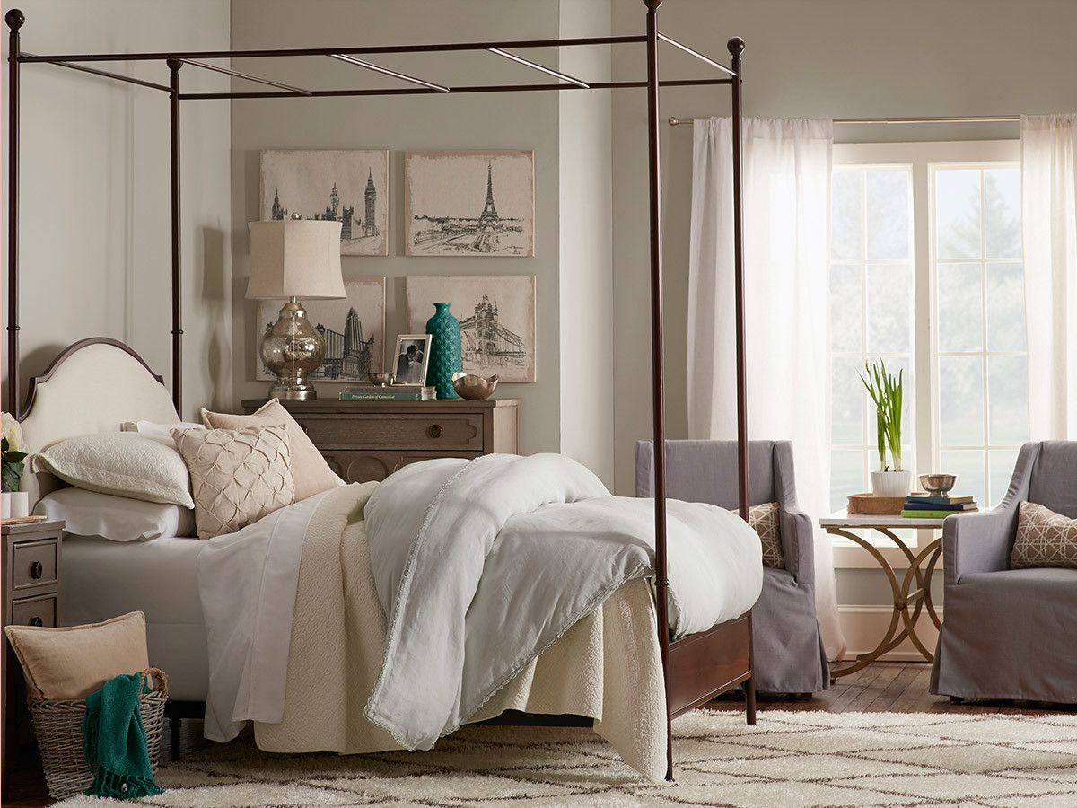 Rockledge Upholstered Canopy Bed Farmhouse master