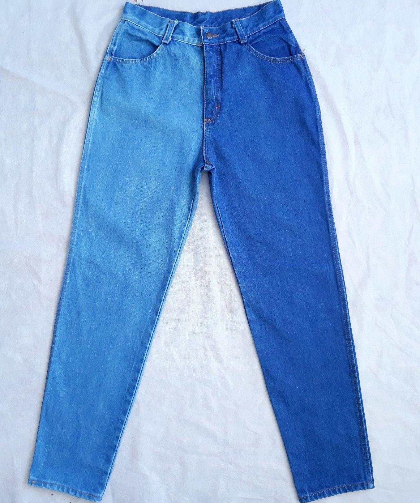 Jeans Bicolor Manualidades Ropa Ropa Pintada Ropa