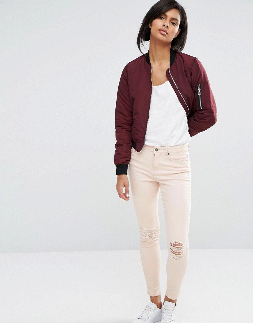 Vero Moda Contrast Rib Bomber Jacket