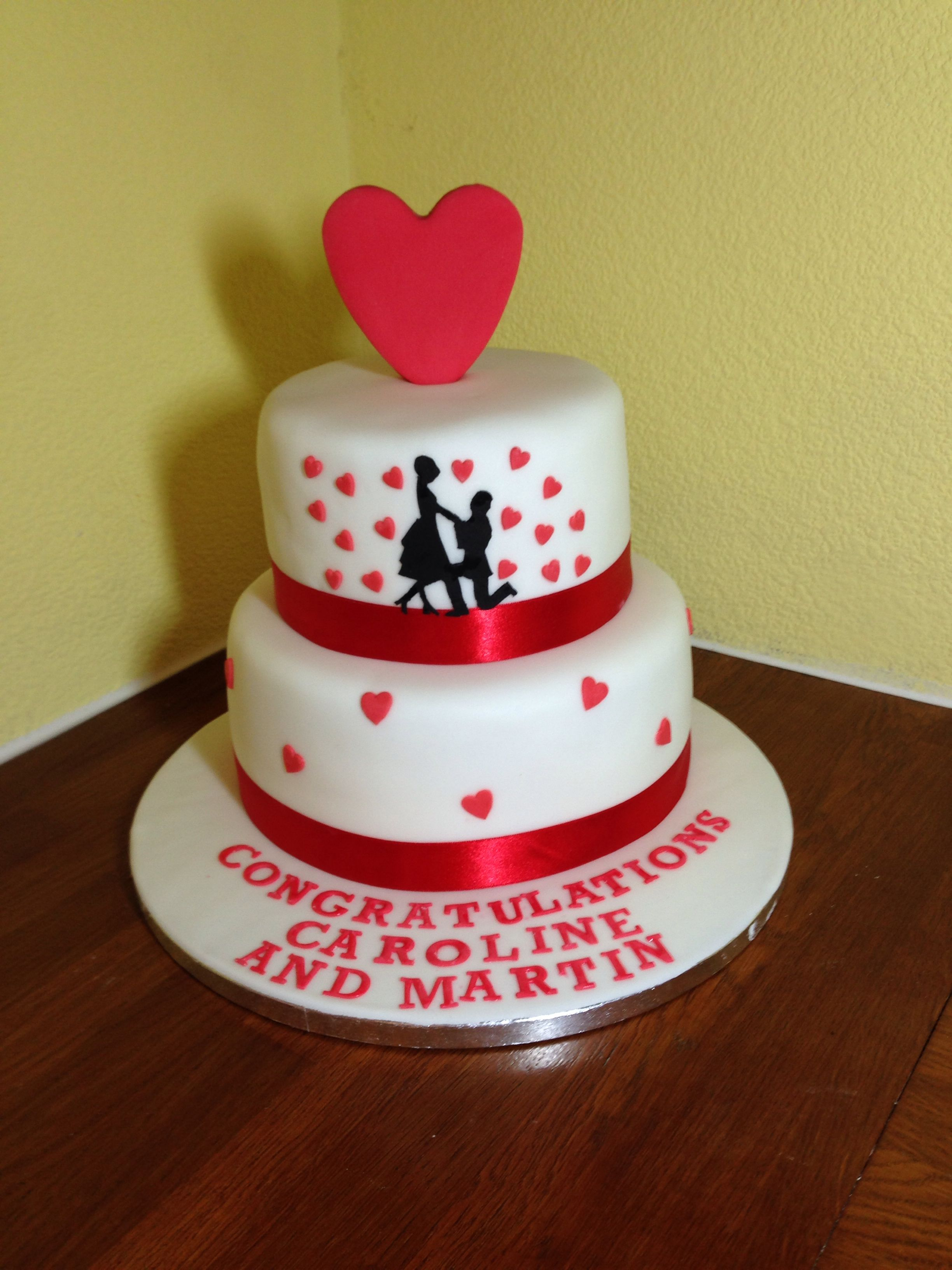 Engagement cake by Angell cakes