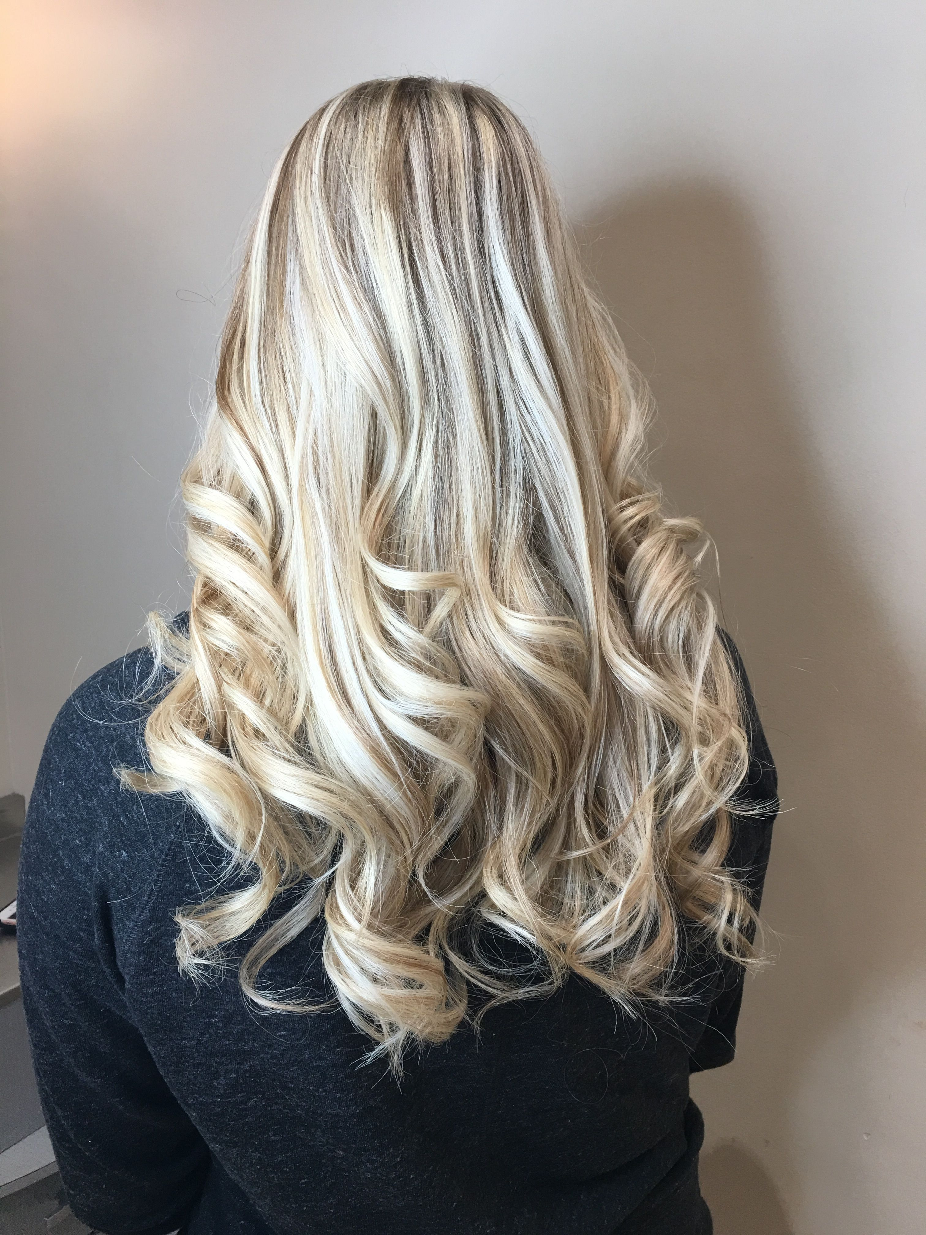 Blonde highlights black under hair naked teenage