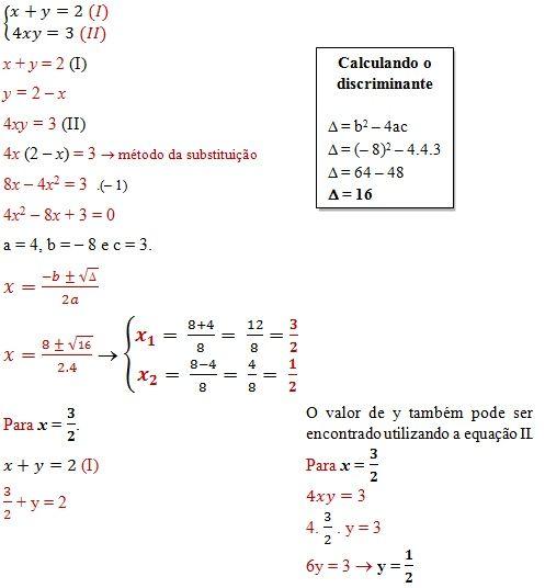 Sistemas De Equacoes De 2º Grau Matematica Matematica Sistemas De Equacoes Equacoes