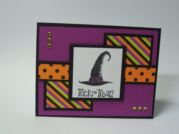 Stampin Up Best Of Halloween Handmade Greeting Card Trick Or Treat