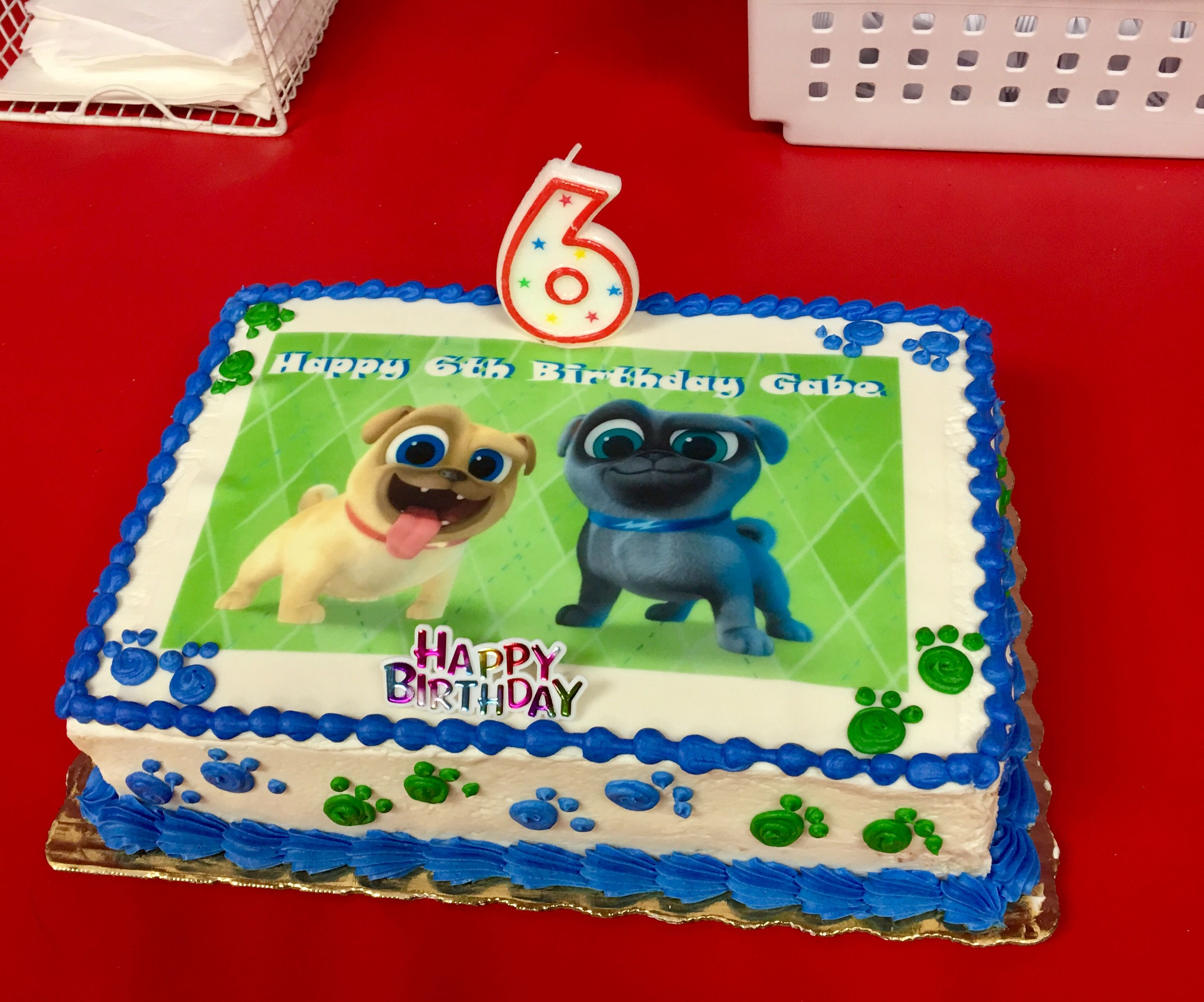 Puppy Dog Pals Edible Cake Topper Puppy Birthday Parties Baby