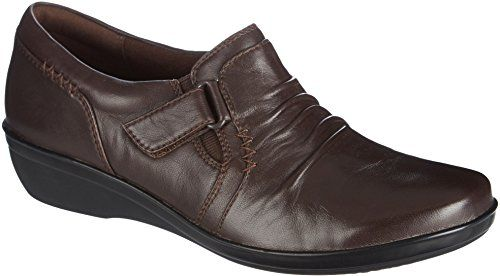 CLARKS Women's Everlay Coda Oxford, Navy Leather, 6.5 M US