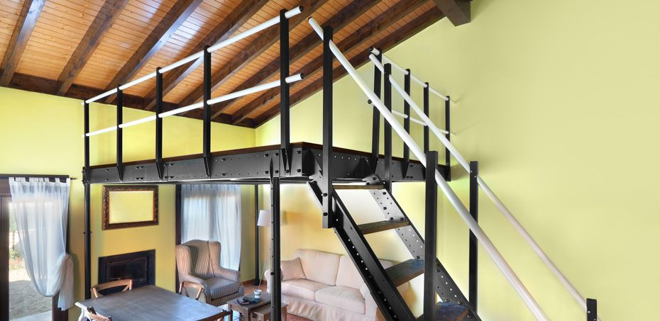 Soppalco fai da te regolabile in acciaio Home decor