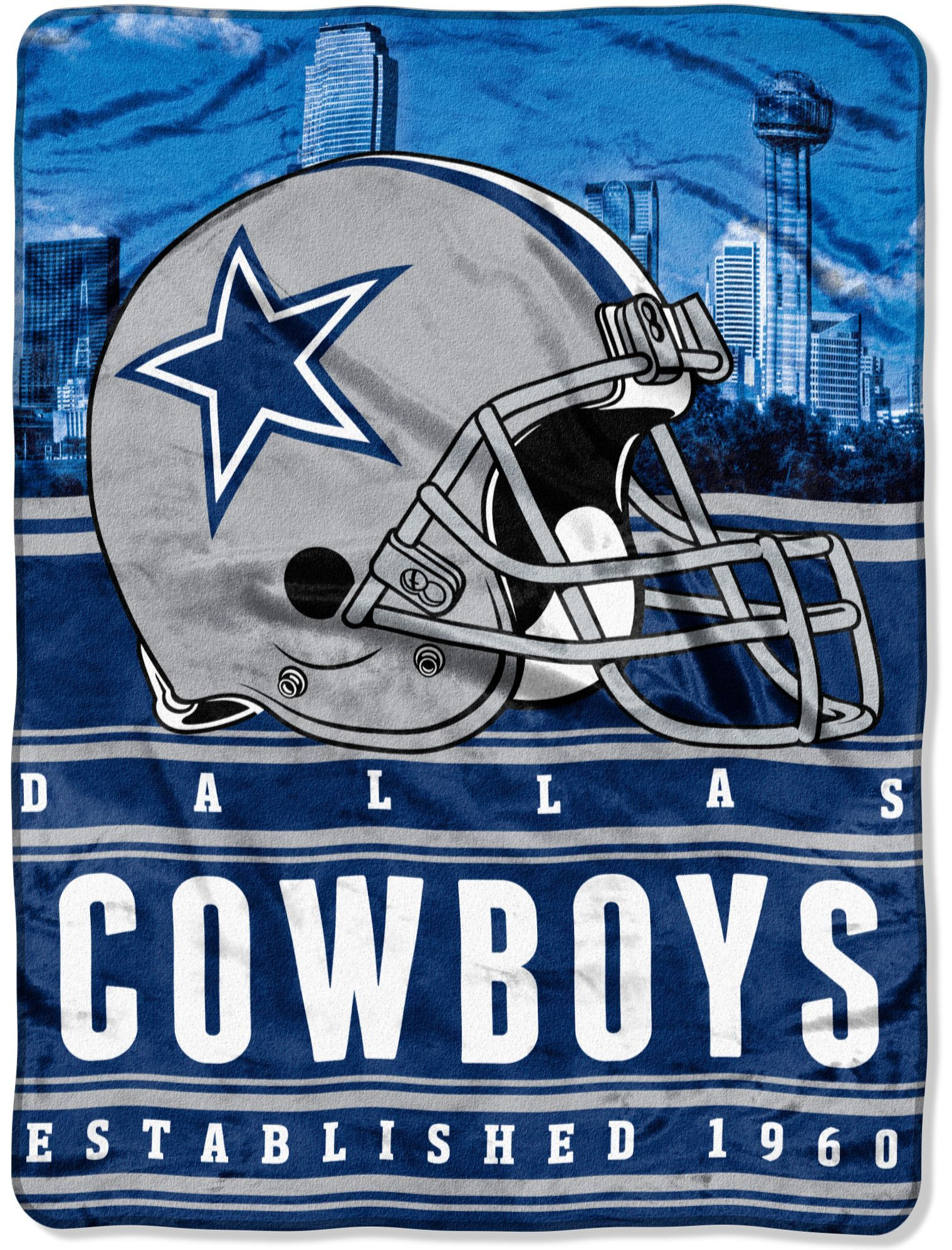 sports shoes 1bc3d 4aa07 NFL Cowboys Stacked Throw | Products | Nfl dallas cowboys ...