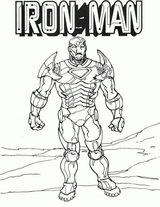 Iron Man Kleurplaten Voor Kinderen Kleurplaat En Afdrukken Tekenen