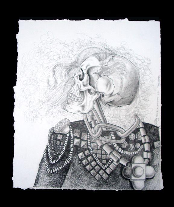 skull designed by federica cavagnini unique piece no 4 technique