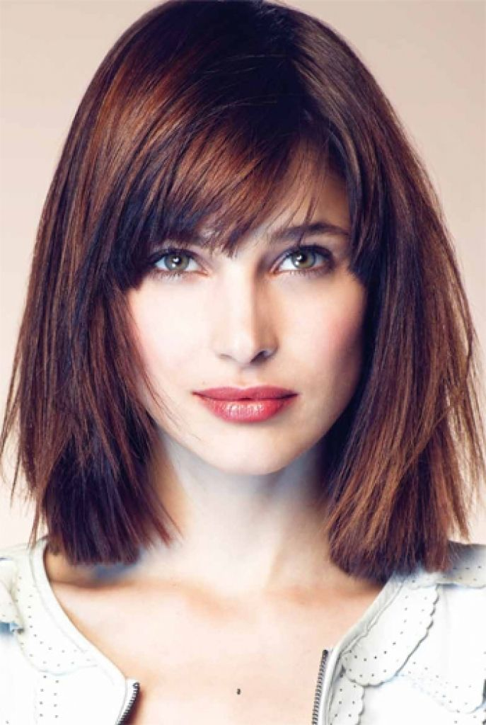 Cute Long Haircuts Shoulder Length Bob Haircuts With Side Bangs My Hair Style Hair Styles Square Face Hairstyles Haircut For Square Face