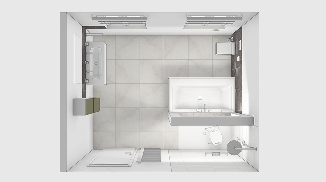 Komfortbad Bad Grundriss Badezimmereinrichtung Badezimmer L Form