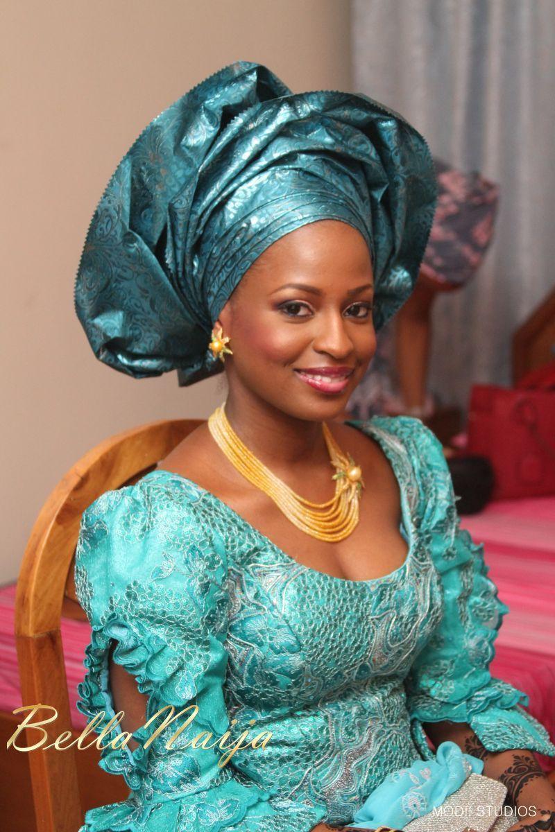 Bella Naija bride Ameena in Makeup by Anna for BMpro. Gele