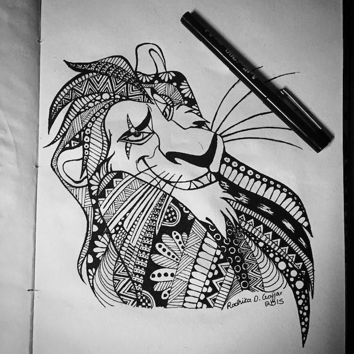 Löwen Tattoo Vorlage