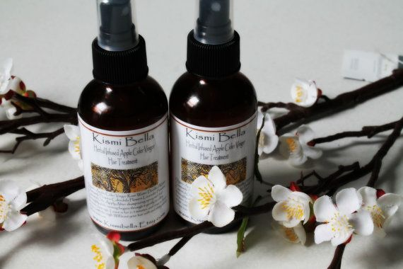 Herbal Infused Apple Cider Vinegar Hair Treatment/ Soft Shiny Hair/ Detangles/ Conditions/ Face Toner