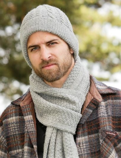 Free knitting pattern for Mans Hat & Scarf | Knitting | Pinterest ...