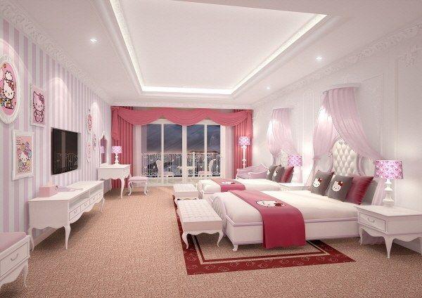 Luxury hello kitty pink room