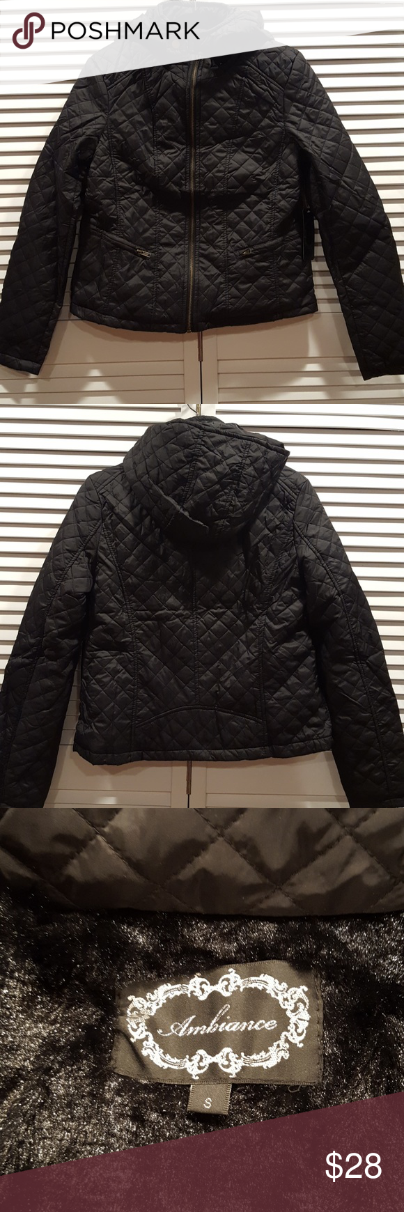 Ambiance Black Quilted Puffer Jacket Size S New With Tags Ambiance Quilted Jacket Zip Up Has Removable Quilted Puffer Jacket Clothes Design Quilted Jacket [ 1740 x 580 Pixel ]