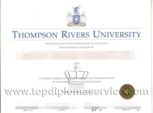 buy Thompson River University diploma, fake master degrees