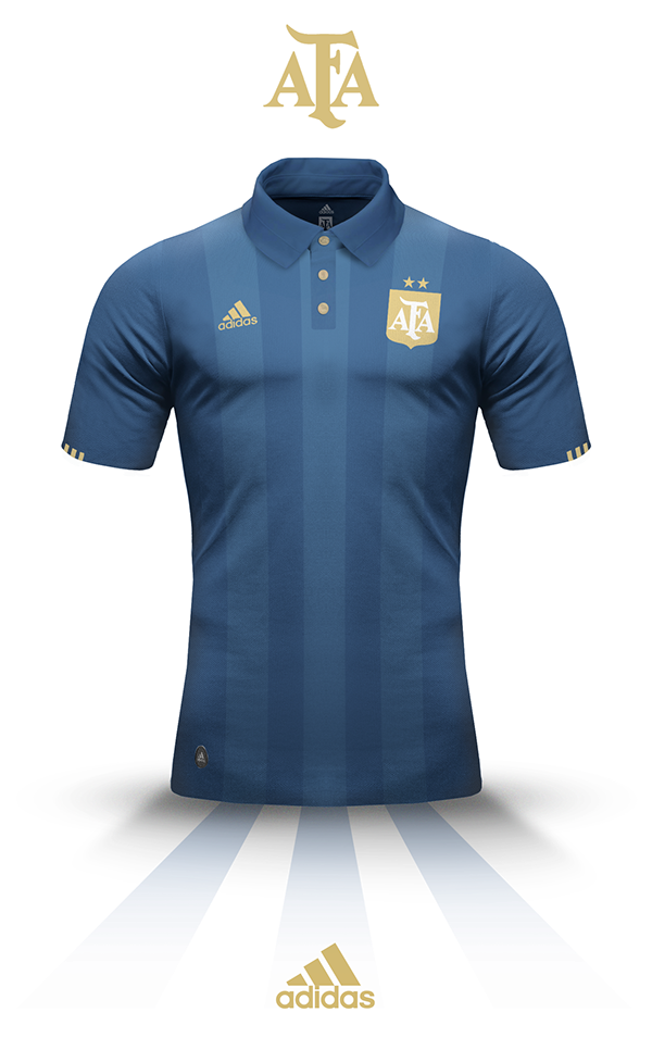 Argentina s kit - Adidas on Behance. EsporteCamisas De FutebolCamisas ... c4e8850bb309f