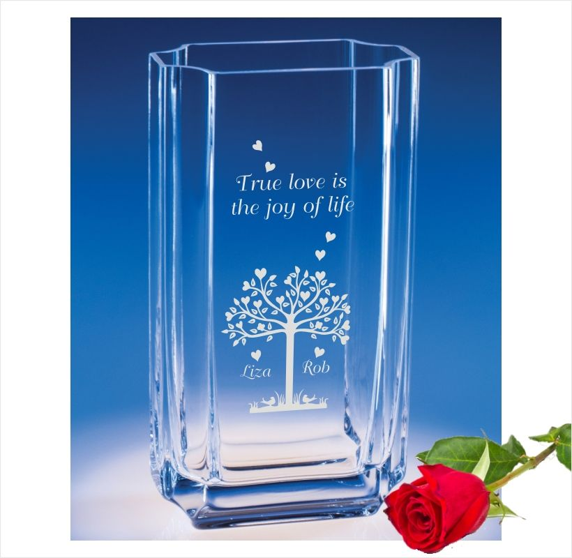 Say I Love You Forever With An Engraved Vase Vase Engraved Vase Glass Flower Vases