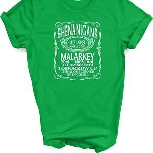 Unisex St Patricks Day Mens Ladies Printed T-Shirt Irish Paddys Ireland Tee Top  | eBay