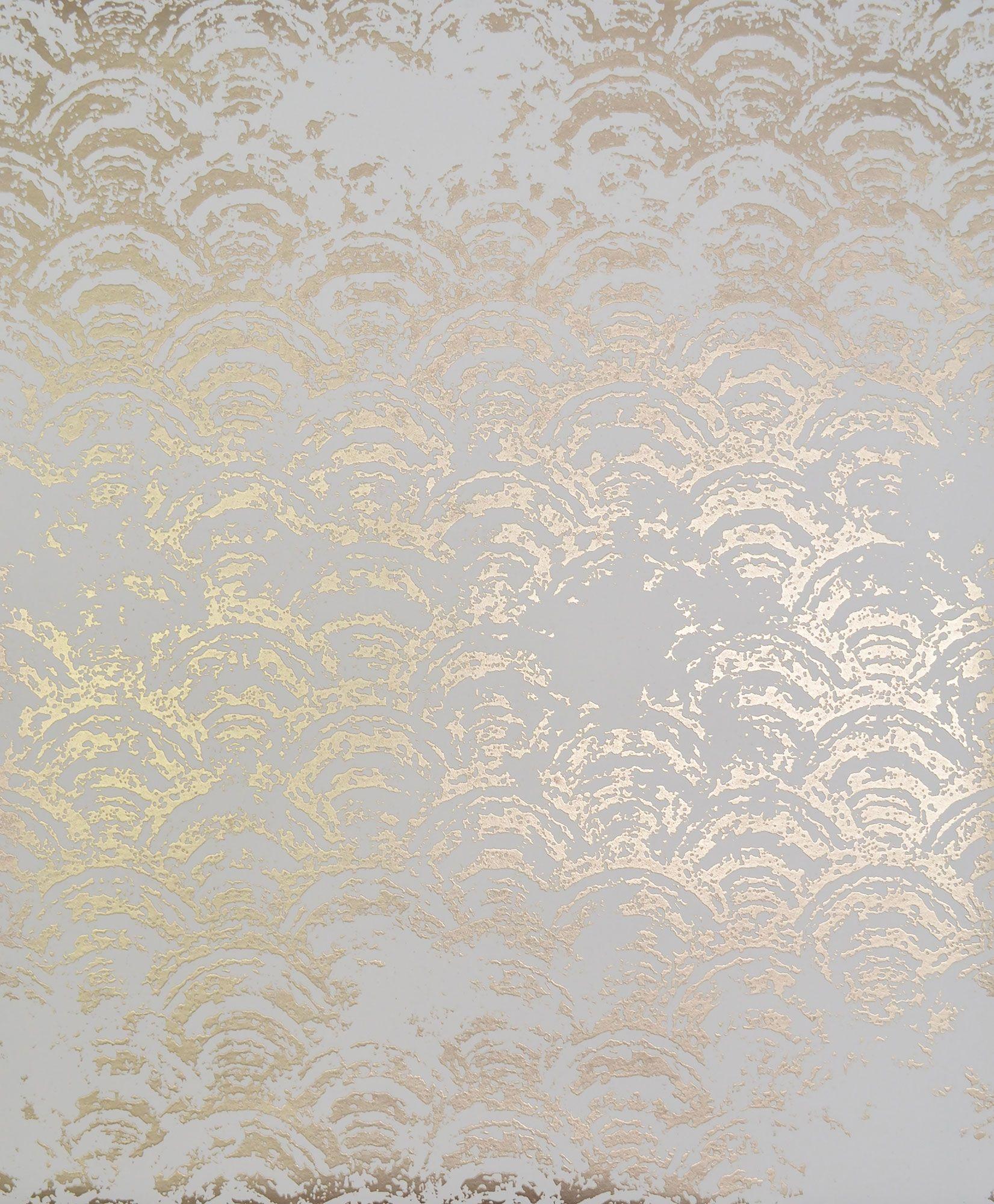 Antonina Vella Eclipse Wallpaper White Gold White And Gold Wallpaper Metallic Wallpaper Gold Wallpaper