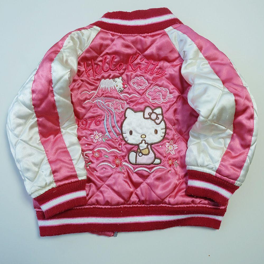 Trending Fashion Pink Cute Kawaii Kids Toddler Japanese Fashion Sanrio Hello Kitty Embroidered Souvenir Sukajan Jacket Fashion Japanese Fashion Pink Fashion [ 1000 x 1000 Pixel ]