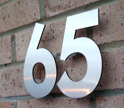 Personalised Your Own House Name and Number White Aluminium Metal Sign-White