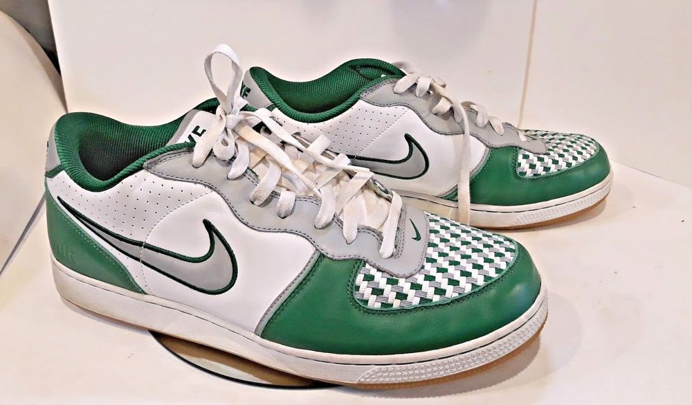 7ea2e965a0cb Mens NIKE Air Zoom Infiltrator Low Green White Leather Woven Sneakers Size  14  Nike  BasketballShoes