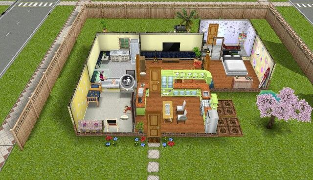 Sims Freeplay Yellow Themed House Sims House Design Sims House Sims House Plans