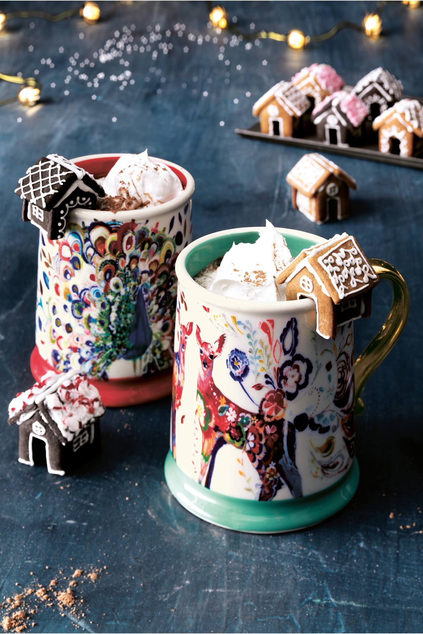 You Need to Be Adding Mini Gingerbread Houses to Your Hot
