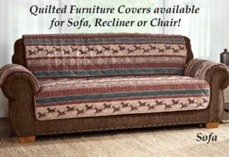Quilted Mustang Furniture Cover Furniture Covers Furniture Western Quilts