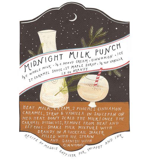 Midnight Milk Punch illustrations by Rebekka Seale