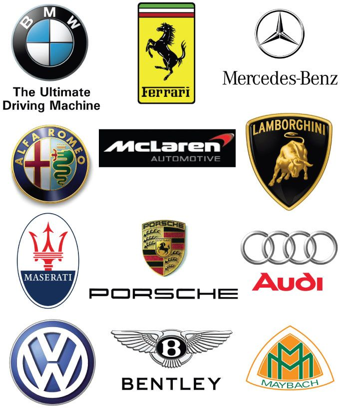 Luxury Car Logos Branding